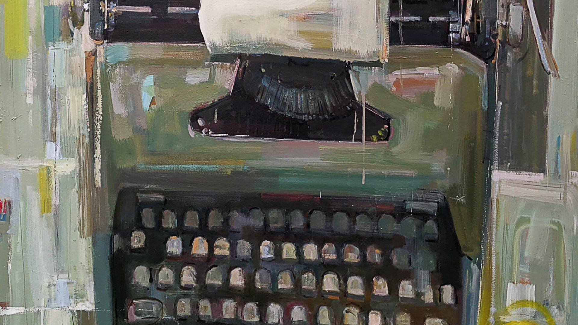 Painting of a typewriter
